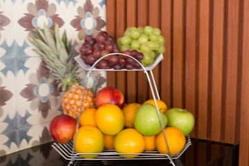 fruteira aramada para cozinha